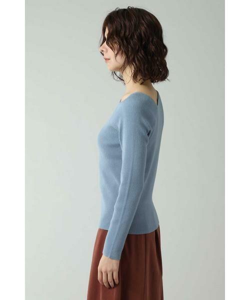 ROSE BUD / ローズ バッド ニット・セーター | アシメトリーネックリブニット | 詳細3