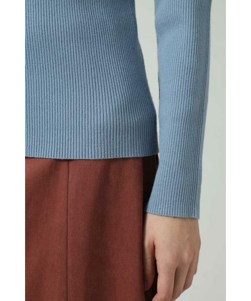 ROSE BUD / ローズ バッド ニット・セーター | アシメトリーネックリブニット | 詳細7