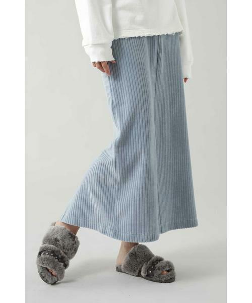 ROSE BUD / ローズ バッド スカート   コーデュロイスカート(ブルー)