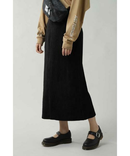 ROSE BUD / ローズ バッド スカート   コーデュロイスカート(ブラック)