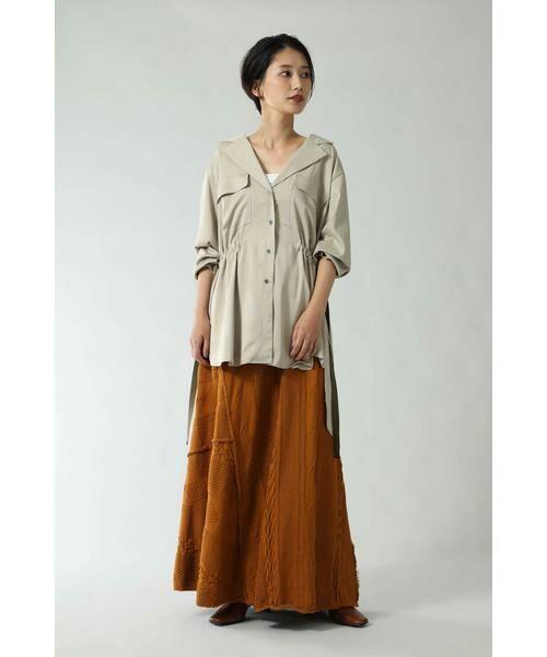 ROSE BUD / ローズ バッド スカート | ケーブルマキシスカート | 詳細2