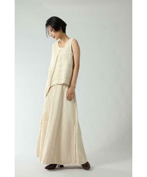 ROSE BUD / ローズ バッド スカート | ケーブルマキシスカート | 詳細5