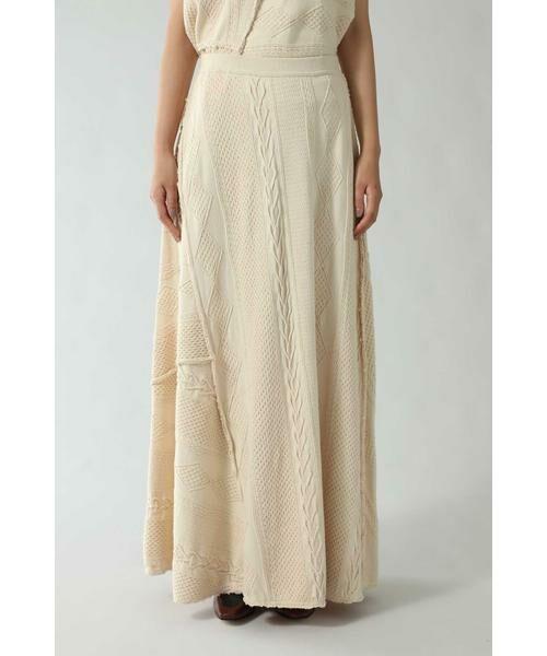 ROSE BUD / ローズ バッド スカート | ケーブルマキシスカート | 詳細7