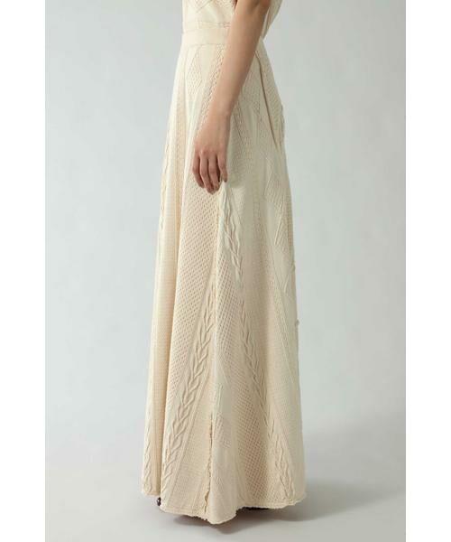ROSE BUD / ローズ バッド スカート | ケーブルマキシスカート | 詳細8