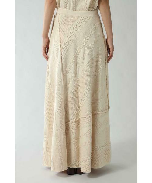ROSE BUD / ローズ バッド スカート | ケーブルマキシスカート | 詳細9