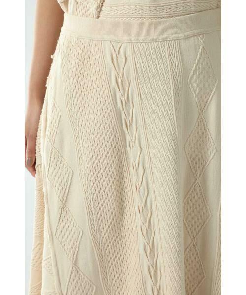 ROSE BUD / ローズ バッド スカート | ケーブルマキシスカート | 詳細10