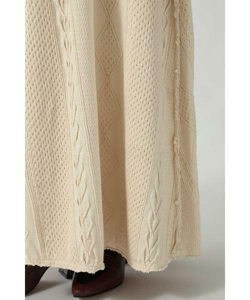 ROSE BUD / ローズ バッド スカート | ケーブルマキシスカート | 詳細11
