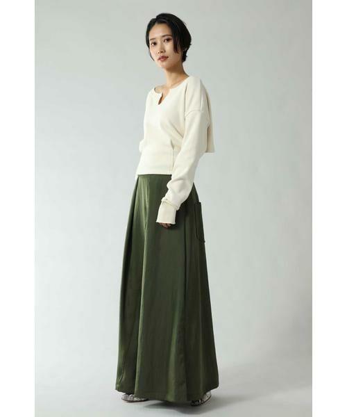 ROSE BUD / ローズ バッド スカート | フレアロングスカート | 詳細1