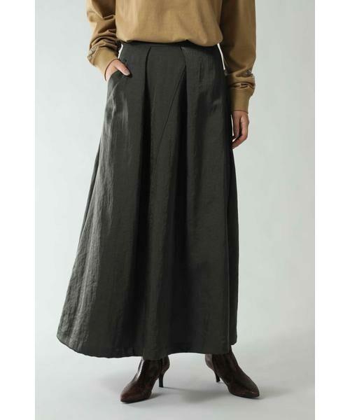 ROSE BUD / ローズ バッド スカート | フレアロングスカート(グレー)