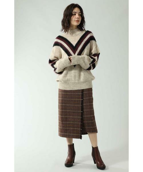 ROSE BUD / ローズ バッド スカート   チェックラインスカート   詳細1