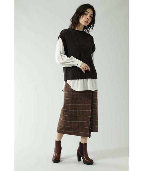 ROSE BUD / ローズ バッド スカート   チェックラインスカート   詳細2