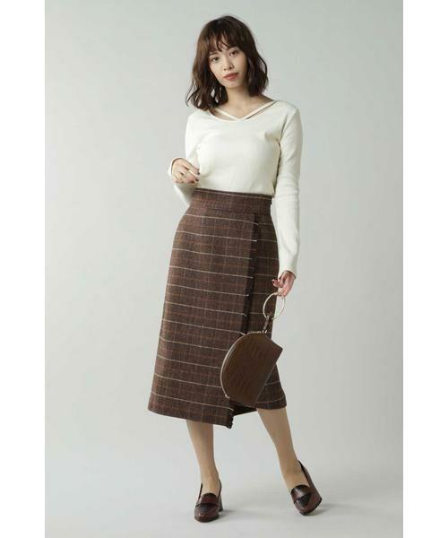 ROSE BUD / ローズ バッド スカート   チェックラインスカート   詳細3