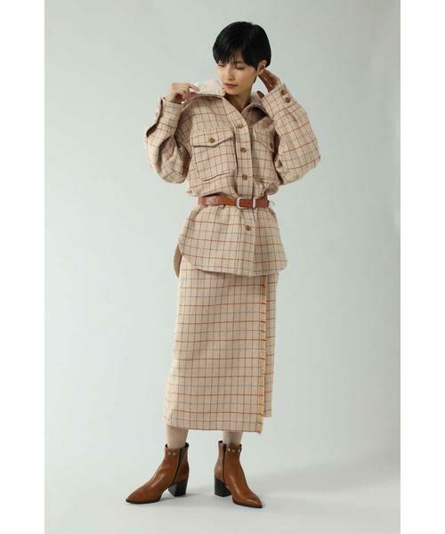 ROSE BUD / ローズ バッド スカート   チェックラインスカート   詳細5
