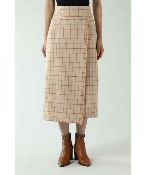 ROSE BUD / ローズ バッド スカート   チェックラインスカート   詳細7