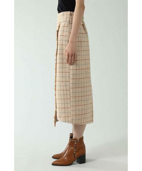 ROSE BUD / ローズ バッド スカート   チェックラインスカート   詳細8