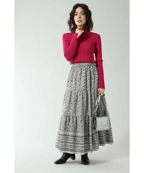 ROSE BUD / ローズ バッド スカート | フォークロア柄スカート | 詳細3