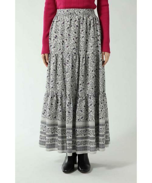 ROSE BUD / ローズ バッド スカート | フォークロア柄スカート | 詳細5