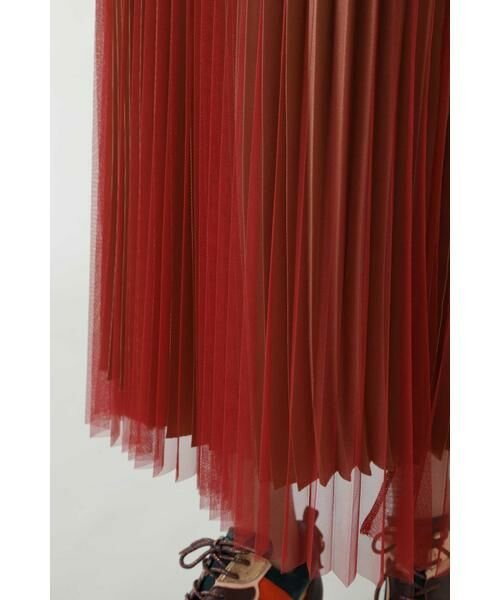 ROSE BUD / ローズ バッド スカート | チュールプリーツスカート | 詳細6