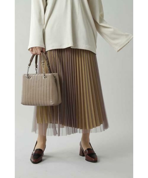 ROSE BUD / ローズ バッド スカート | チュールプリーツスカート(グレー)