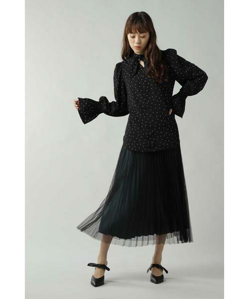 ROSE BUD / ローズ バッド スカート | チュールプリーツスカート | 詳細15