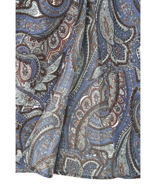 ROSE BUD / ローズ バッド スカート | ペイズリープリントマキシスカート | 詳細10