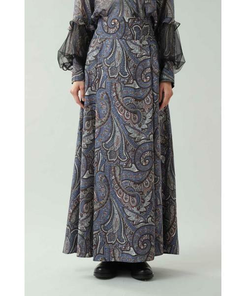 ROSE BUD / ローズ バッド スカート | ペイズリープリントマキシスカート | 詳細2