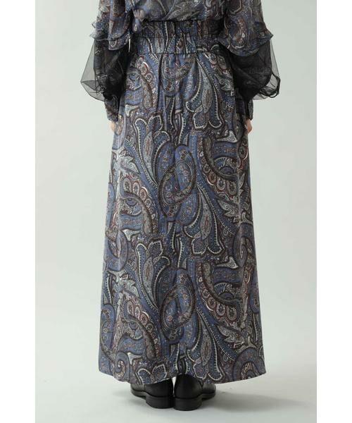 ROSE BUD / ローズ バッド スカート | ペイズリープリントマキシスカート | 詳細4
