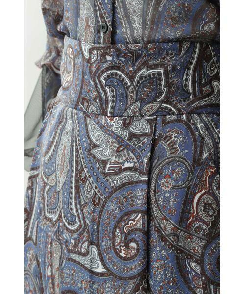 ROSE BUD / ローズ バッド スカート | ペイズリープリントマキシスカート | 詳細5