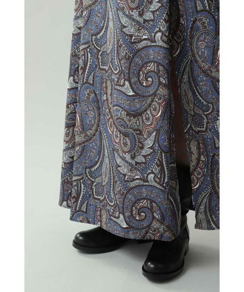 ROSE BUD / ローズ バッド スカート | ペイズリープリントマキシスカート | 詳細7