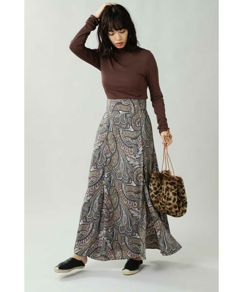 ROSE BUD / ローズ バッド スカート | ペイズリープリントマキシスカート | 詳細12