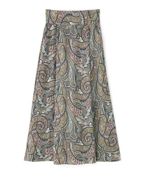 ROSE BUD / ローズ バッド スカート | ペイズリープリントマキシスカート | 詳細14