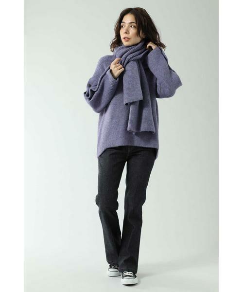 ROSE BUD / ローズ バッド ニット・セーター | マフラー付きニットトップス | 詳細5