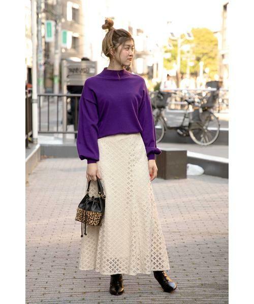 ROSE BUD / ローズ バッド スカート | 透かしナロースカート | 詳細18
