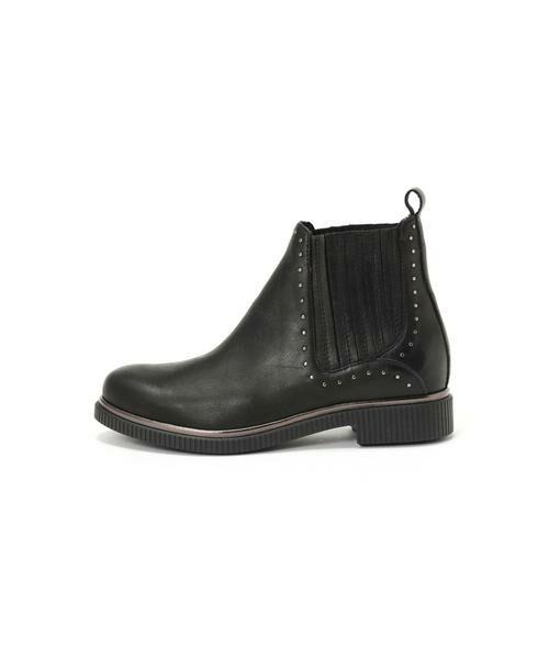 ROSE BUD / ローズ バッド ブーツ(ショート丈) | スタッズ付サイドゴアブーツ(ブラック)