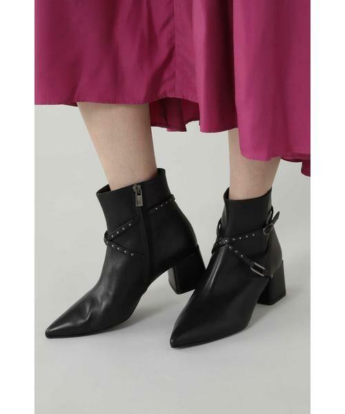 ROSE BUD / ローズ バッド ブーツ(ショート丈) | スタッズベルトショートブーツ | 詳細1