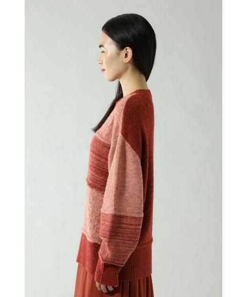 ROSE BUD / ローズ バッド ニット・セーター | ケーブルブロッキングニット | 詳細3