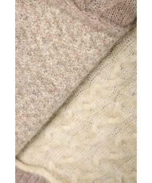 ROSE BUD / ローズ バッド ニット・セーター | ケーブルブロッキングニット | 詳細12