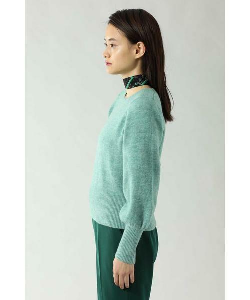 ROSE BUD / ローズ バッド ニット・セーター | スカーフ付きクルーネックニット | 詳細11