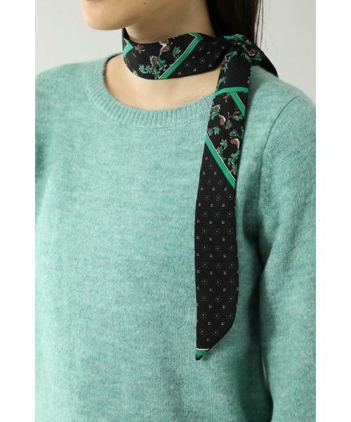 ROSE BUD / ローズ バッド ニット・セーター | スカーフ付きクルーネックニット | 詳細13