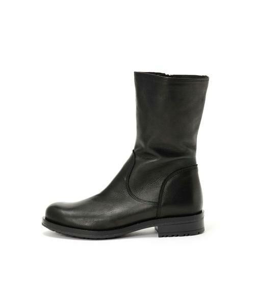 ROSE BUD / ローズ バッド ブーツ(ショート丈) | ミドル丈レザーブーツ(ブラック)