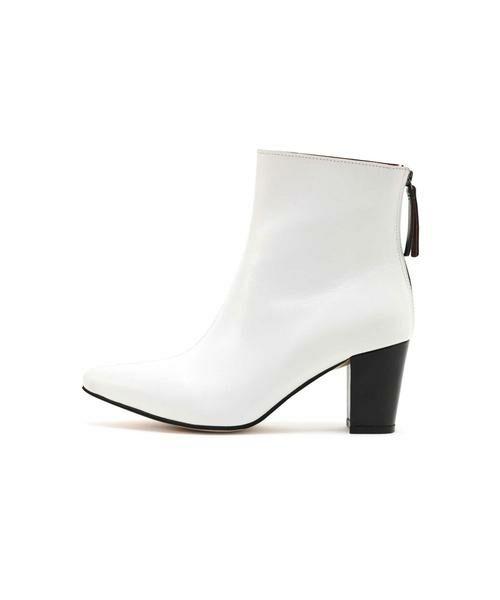 ROSE BUD / ローズ バッド ブーツ(ショート丈) | Pointed Bi Color Boots | 詳細1