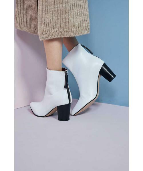 ROSE BUD / ローズ バッド ブーツ(ショート丈) | Pointed Bi Color Boots | 詳細4