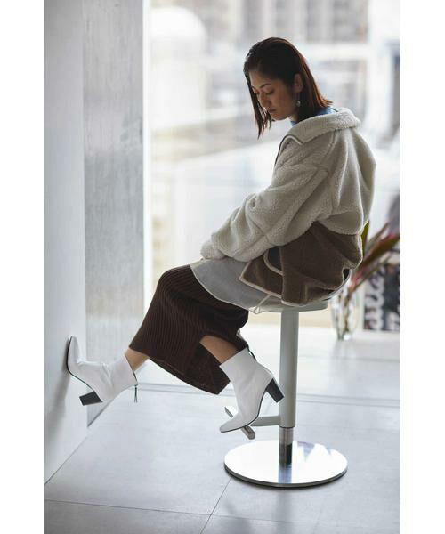 ROSE BUD / ローズ バッド ブーツ(ショート丈) | Pointed Bi Color Boots | 詳細6