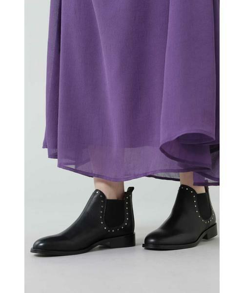 ROSE BUD / ローズ バッド ブーツ(ショート丈) | スタッズ付サイドゴアブーツ | 詳細1