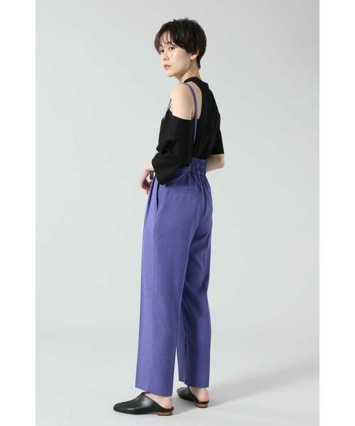 ROSE BUD / ローズ バッド パンツ   サスペンダー付きテーパードパンツ   詳細18