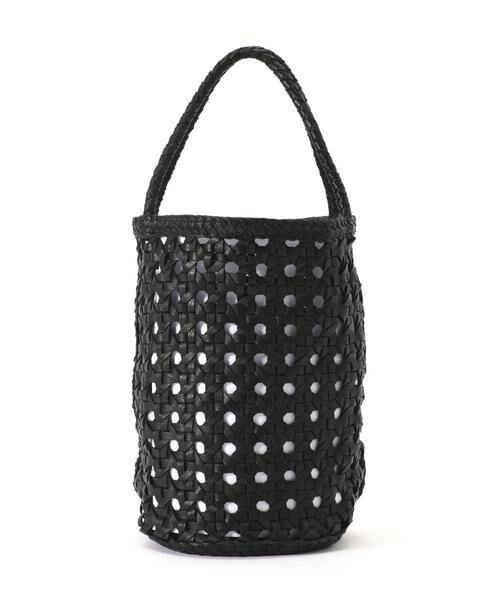 ROSE BUD / ローズ バッド ショルダーバッグ | 透かし編みバケツバッグ(ブラック)