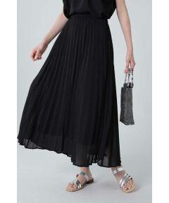 清涼感のある薄手の生地感がフェミニンに揺れるプリーツスカート<br/>・ROSE BUDでしか取り扱いのないオリジナルプリントを加えた3色展開<br/>・甘すぎないオリエンタルプリント<br/>・トレンド感のあるプリーツデザイン<br/><br/><br/>【スタッフレビュー】<br/>軽く透け感のある素材のプリーツスカート。オリジナルのオリエンタルプリント1色と無地の全3色展開です。軽やかな素材が動く度に揺れなびき抜け感のあるコーディネートのポイントに。後ろウエスト部分はゴム仕様で、イージーな履き心地です。