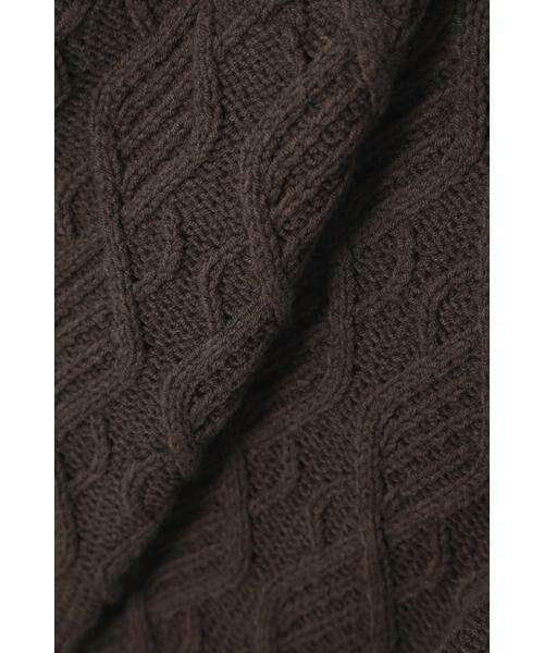 ROSE BUD / ローズ バッド ニット・セーター | ケーブルニットベスト | 詳細15