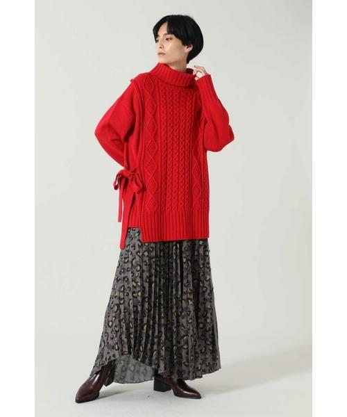 ROSE BUD / ローズ バッド スカート | アニマルプリーツスカート | 詳細1