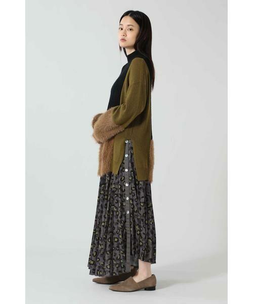 ROSE BUD / ローズ バッド スカート | アニマルプリーツスカート | 詳細2